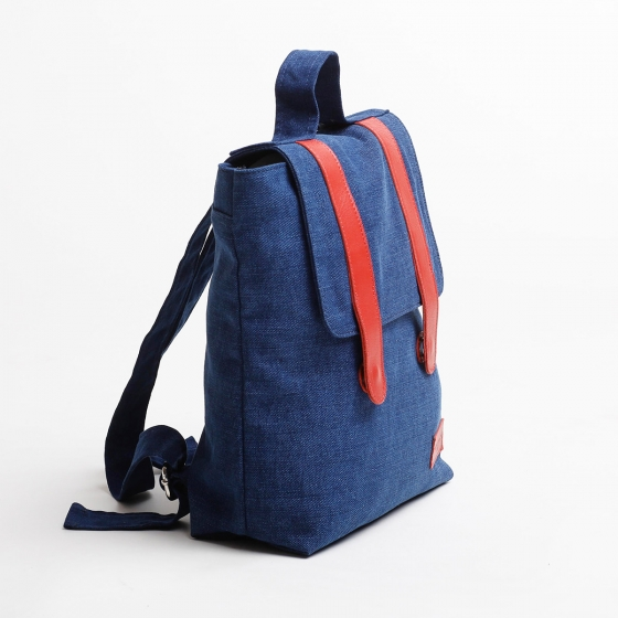 Mini sac à dos en denim