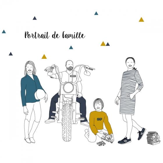 Votre portrait de famille en dessin