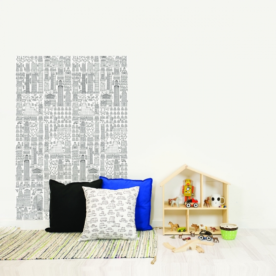 papier peint colorier. Black Bedroom Furniture Sets. Home Design Ideas