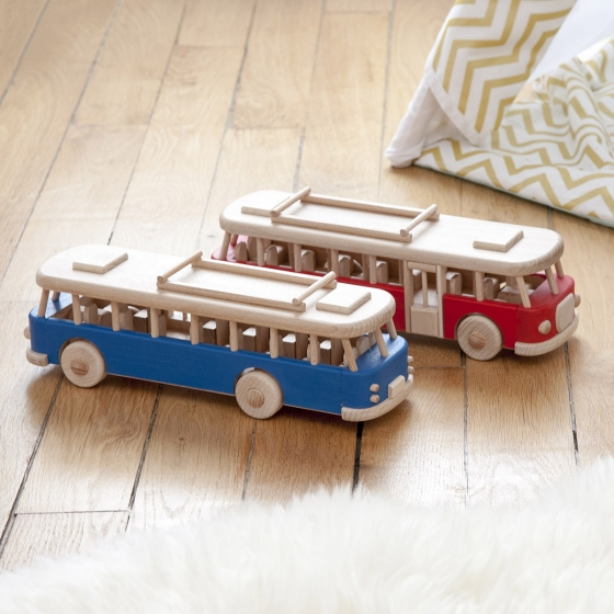 Bus vintage en bois
