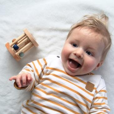 Hochet Montessori en bois