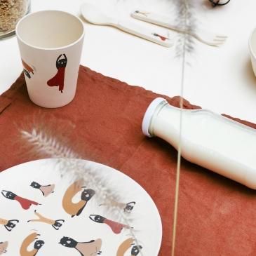 Vaisselle en bambou Yogacats
