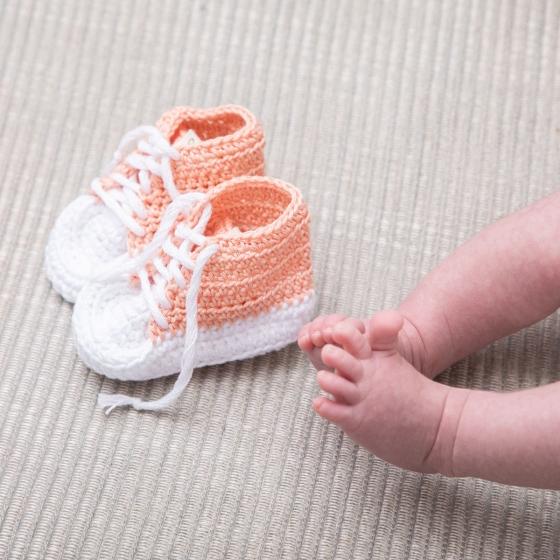 Mini baskets au crochet