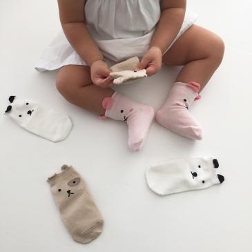 Trio de chaussettes à petites oreilles